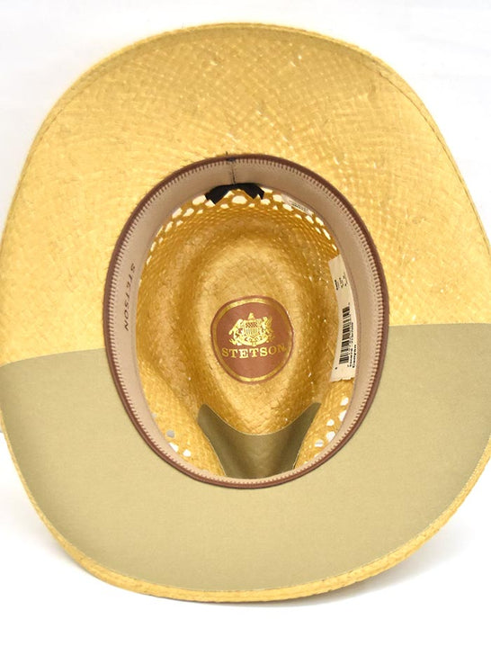 Stetson Men's CANYON Natural Panama Straw Hat SSCNYN-2T3279 inside
