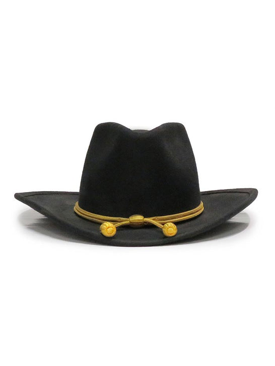 John Wayne Collection by Stetson THE FORT Crushable Felt Hat Black front