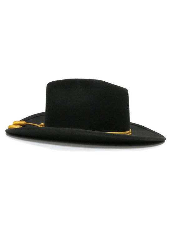 John Wayne Collection by Stetson THE FORT Crushable Felt Hat Black Side