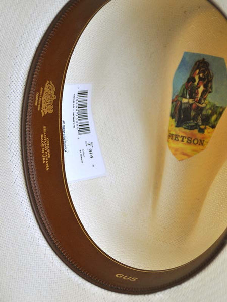 Stetson Legendary Collection Gus Natural Cowboy Straw Hat SSGUSS-5636 ae00c330335e