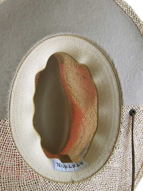 Stetson Mens Lakeland Vented Natural UV Protection Straw Hat TSLKLD-3830