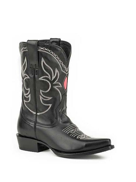 Stetson Ladies Black Vamp Western Boot style # 12-021-6110-0331