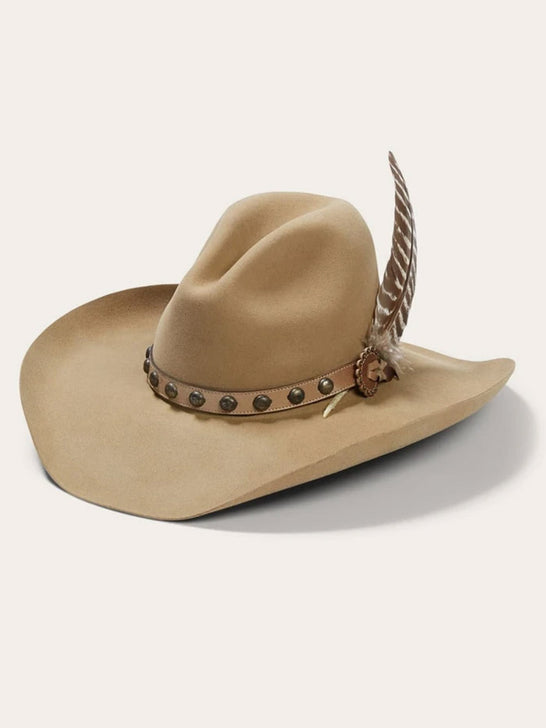 Stetson SBBBOW-6943 Mens Broken Bow 4X Cowboy Hat Buck Side Front