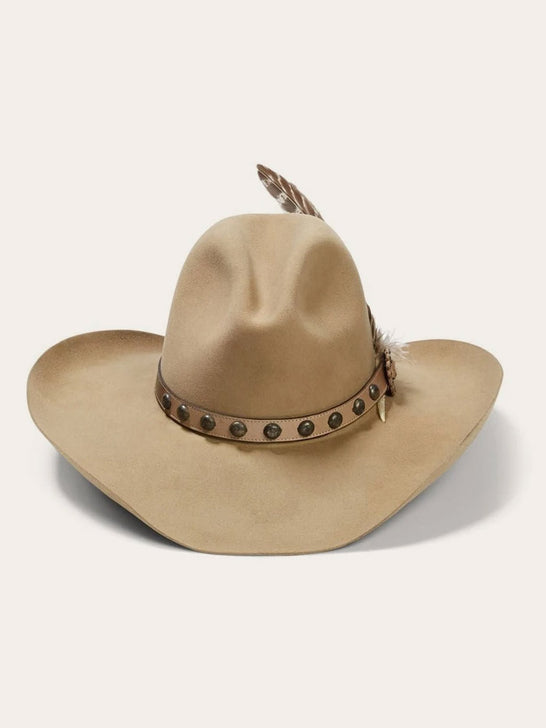 Stetson SBBBOW-6943-24 Mens Broken Bow 4X Cowboy Hat Buck Front View