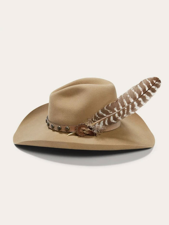 Stetson SBBBOW-6943 Mens Broken Bow 4X Cowboy Hat Buck Side View