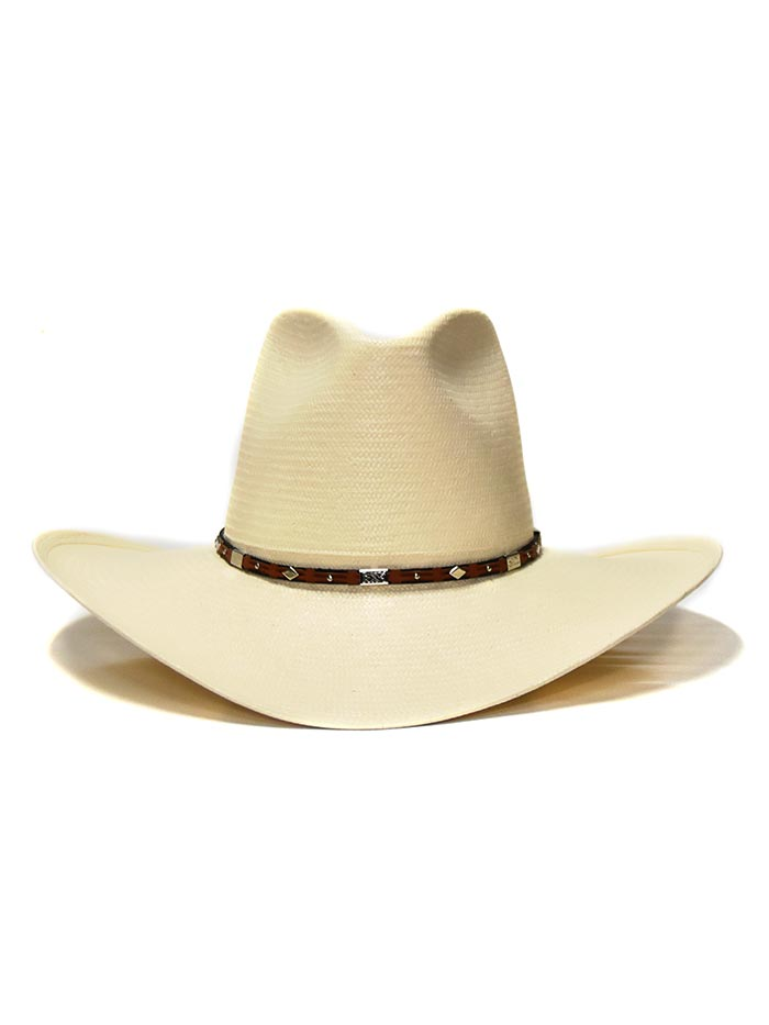 Stetson 8X Silver Horn Natural Straw Hat SSSLVH-2640 front side at JC Western Wear