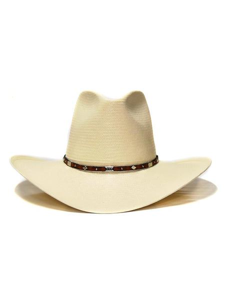 Stetson 8X Silver Horn Natural Straw Hat SSSLVH-2640 view from front