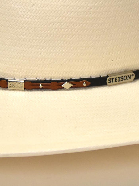 Stetson 8X Silver Horn Natural Straw Hat SSSLVH-2640 close up