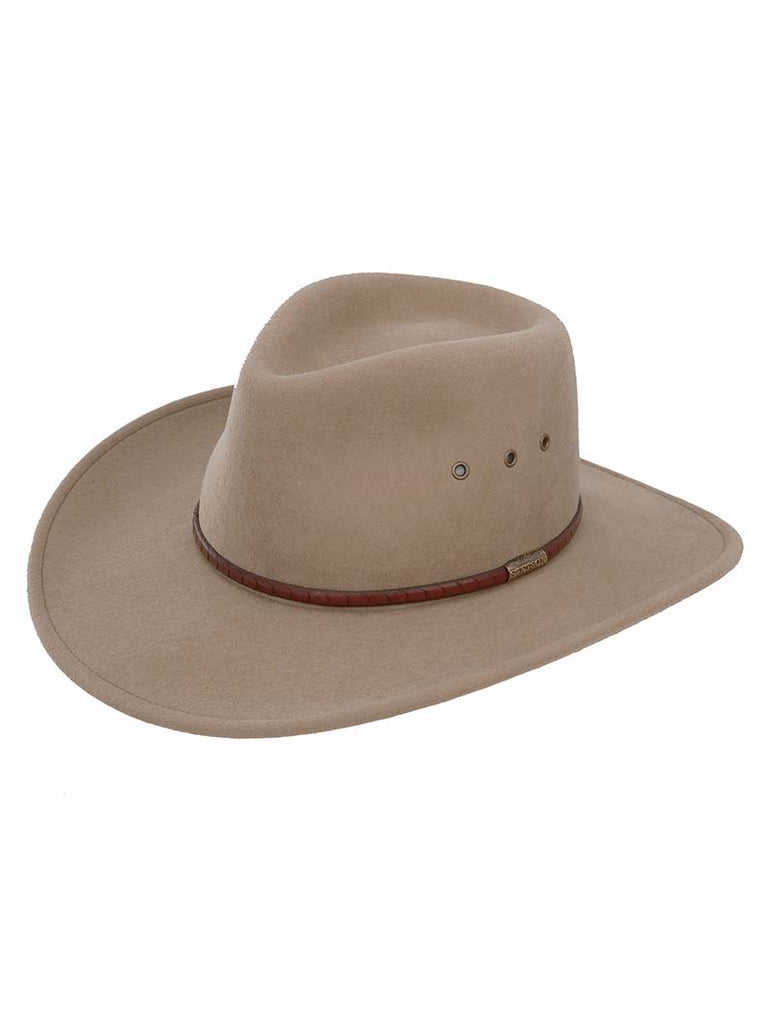 Stetson SWMOAB-8132 Mens Moab Crushable Wool Felt Hat Mushroom