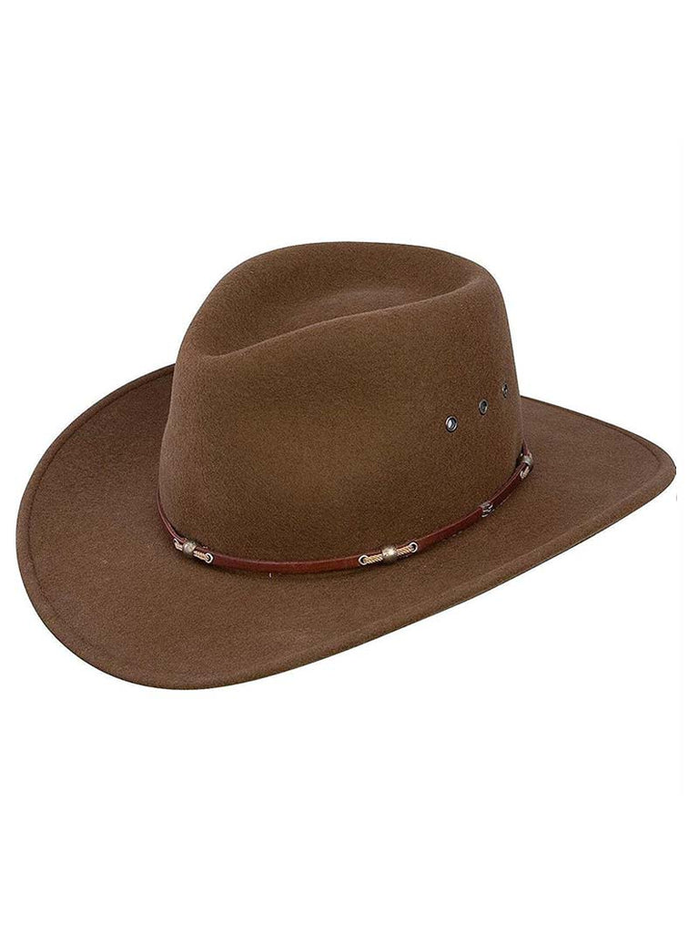 Stetson SWWDWD Mens Wildwood Acorn Crushable Wool Felt Hat