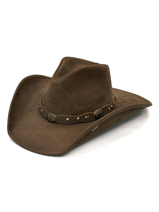Stetson TRROXB-8434MC Roxbury Shapeable Leather Cowboy Western Hat Mocha