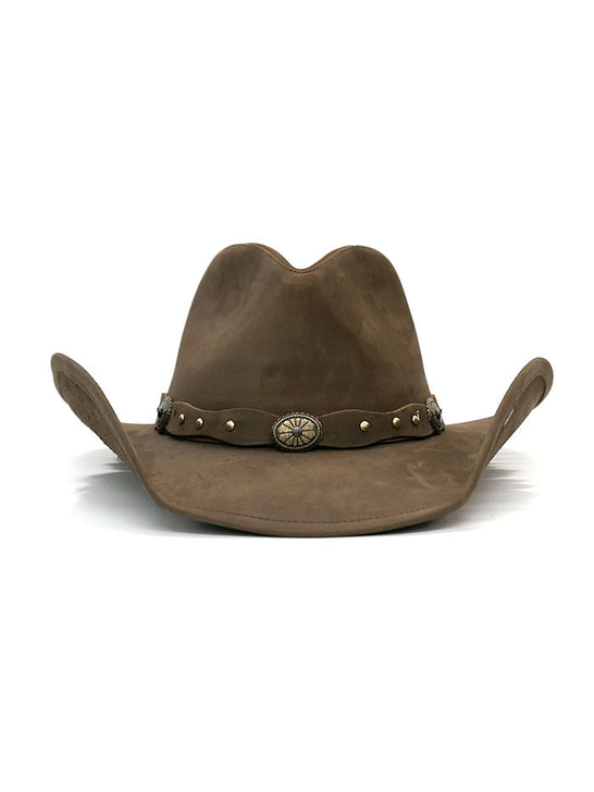 Stetson TRROXB-8434MC Roxbury Shapeable Leather Cowboy Western Hat Mocha front
