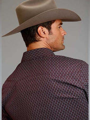 Mens Stetson Abacus Geo Print Modern Fit Western Shirts 11-001-0478-0679 WI