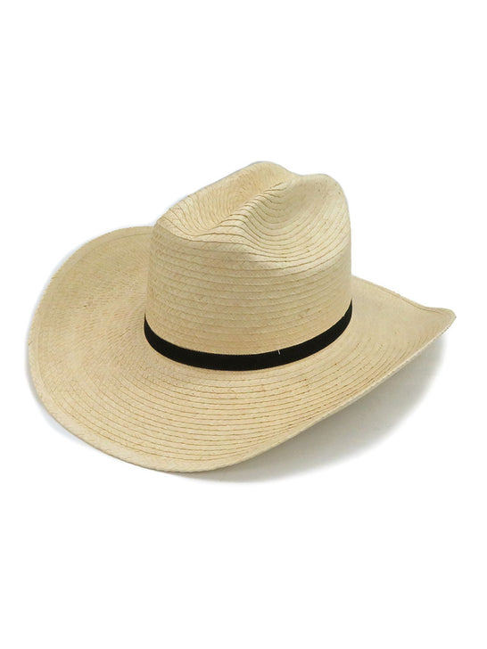 SunBody Kid's Cattleman Handcrafted Natural Straw Hat HGKC Side