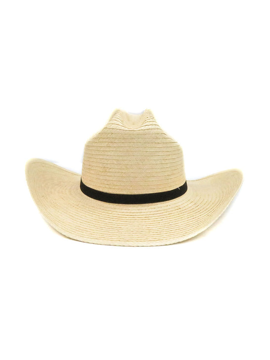 SunBody Kid's Cattleman Handcrafted Natural Straw Hat HGKC Front View