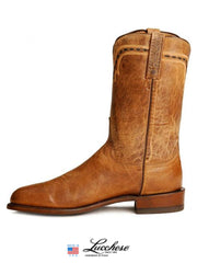 Men's Lucchese 1883 Mad Dog Leather Roper Boots T0121 Lucchese - J.C. Western® Wear