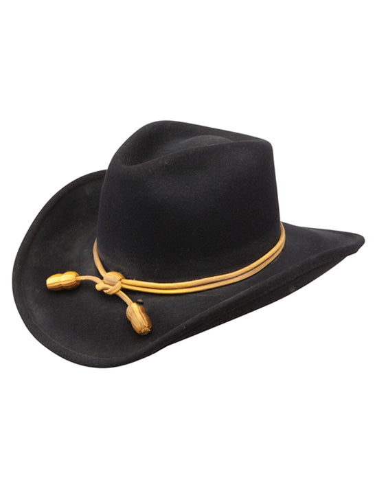 "John Wayne Collection by Resistol ""The Fort"" Crushable Felt Hat Black Resistol - J.C. Western® Wear"