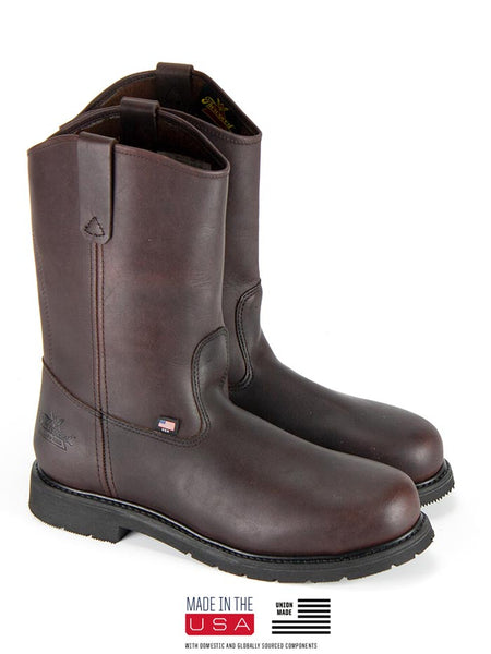 Thorogood 804-3231 Mens Oil Rigger Wellington Safety Toe Boot Black Walnut
