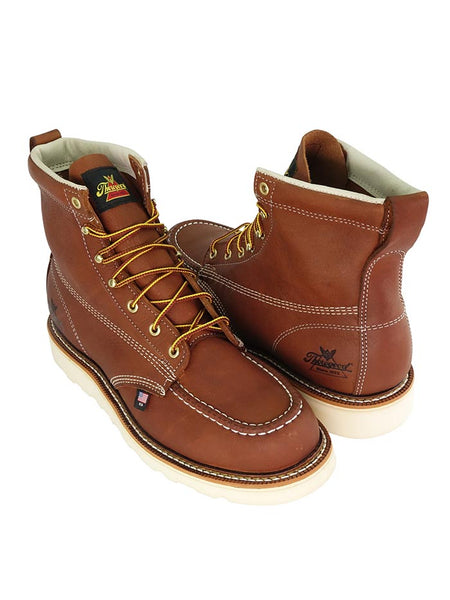 Thorogood Mens American Heritage 6″ Tobacco Safety Toe Boot 804-4200 Thorogood Workboot 804-4200