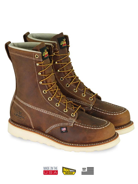Thorogood 804-4478 Mens 8″ Trail Crazyhorse MAXWear Wedge Safety Toe Boot USA