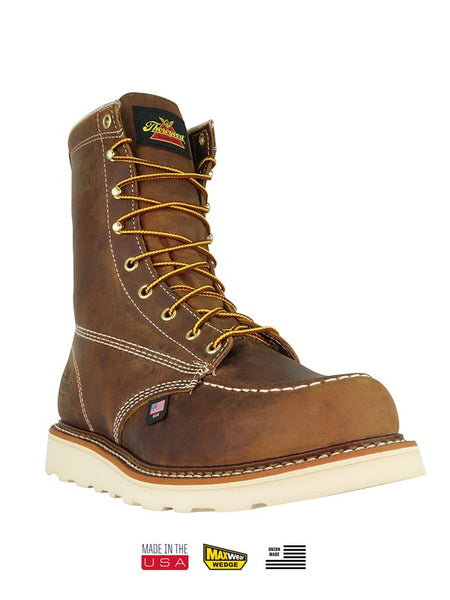 Thorogood 804-4478 Mens 8″ Trail Crazyhorse MAXWear Wedge Safety Toe Boot Moc Toe