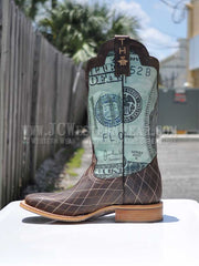 Mens Tin Haul Money To Burn Cowboy Boots 14-020-0007-0273 - D