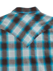 Tin Haul Mens Blue HORIZON Western Snap Shirt 250BU