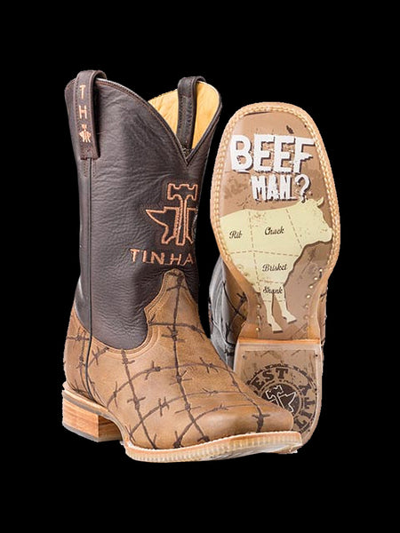 Mens Tin Haul Don't Fence Me In Square Toe Boots 14-020-0007-0081 - D