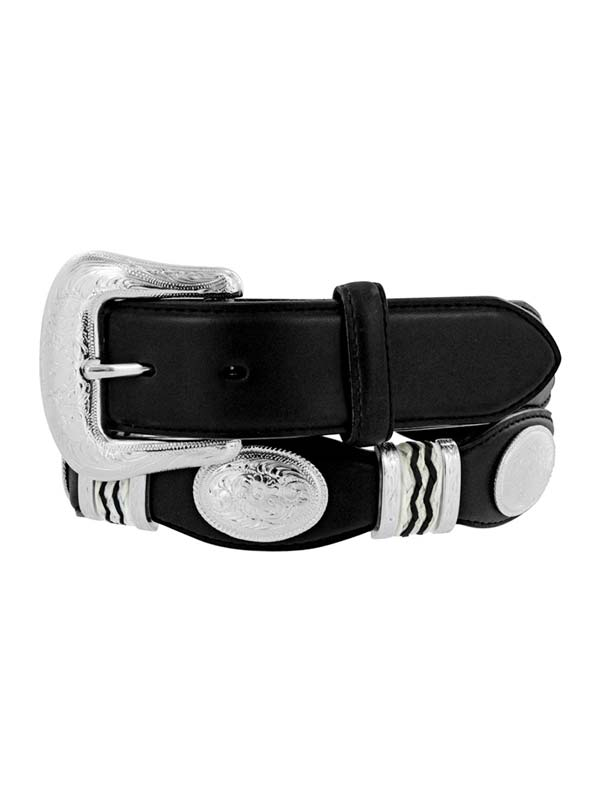 Tony Lama 9113L Mens Cutting Champ Conchos Belt Black