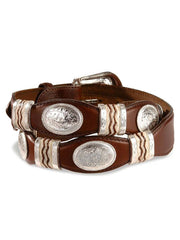 Tony Lama Mens Cutting Champ Conchos Belt 9119L Bark