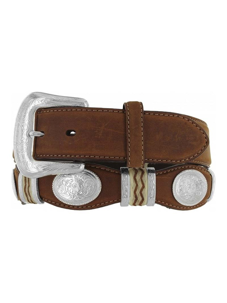 Tony Lama 9119L Mens Cutting Champ Conchos Belt Aged Bark