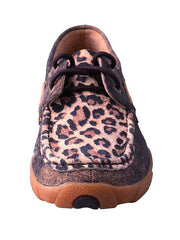 Twisted X Womens Cheetah Print Driving Moccasins Loafers WDM0057 - B