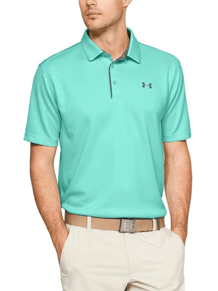 Levántate cilindro infinito  Under Armour Mens Tech SS Polo Shirt 1290140-361 Turquoise Gray – J.C.  Western® Wear