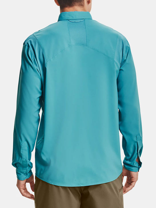 Under Armour 1351121-477 Mens Tide Chaser 2.0 Long Sleeve Shirt Teal Blue back