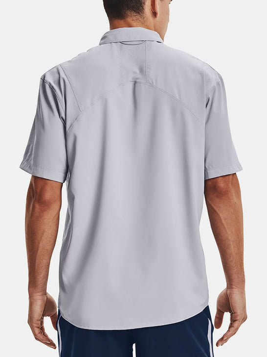 Under Armour 1351123-011 Mens Tide Chaser 2.0 Short Sleeve Shirt Gray Back