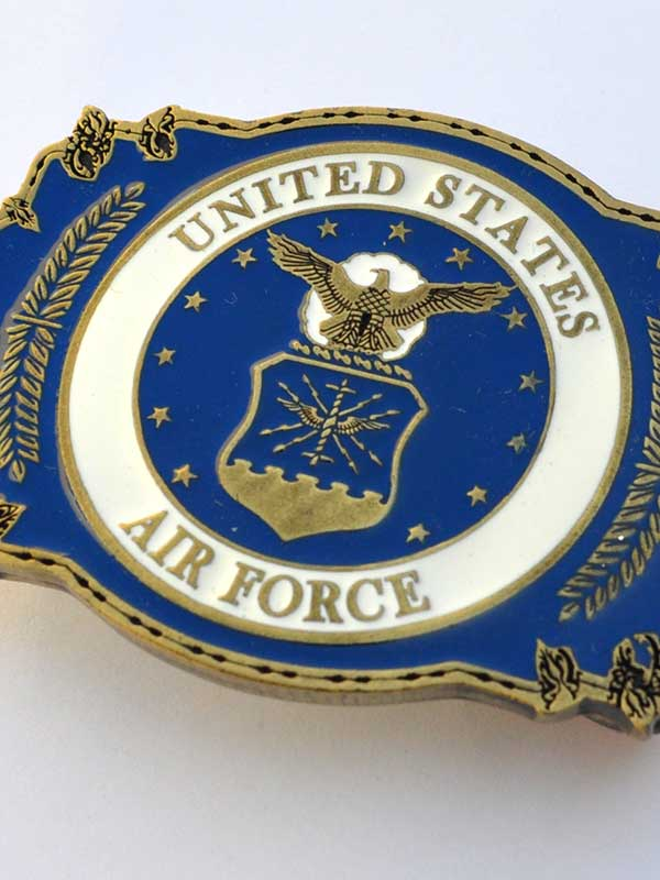 United States Air Force Pewter Belt Buckle B0115