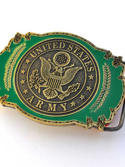 United States Army Pewter Belt Buckle B0101