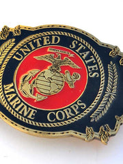 United States Marine Corps Pewter Belt Buckle B0127
