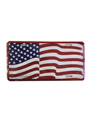 United States Flag Metal License Plate LP0528