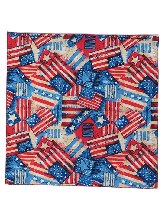 "Patriotic USA Flag Bandana 21"" spread"