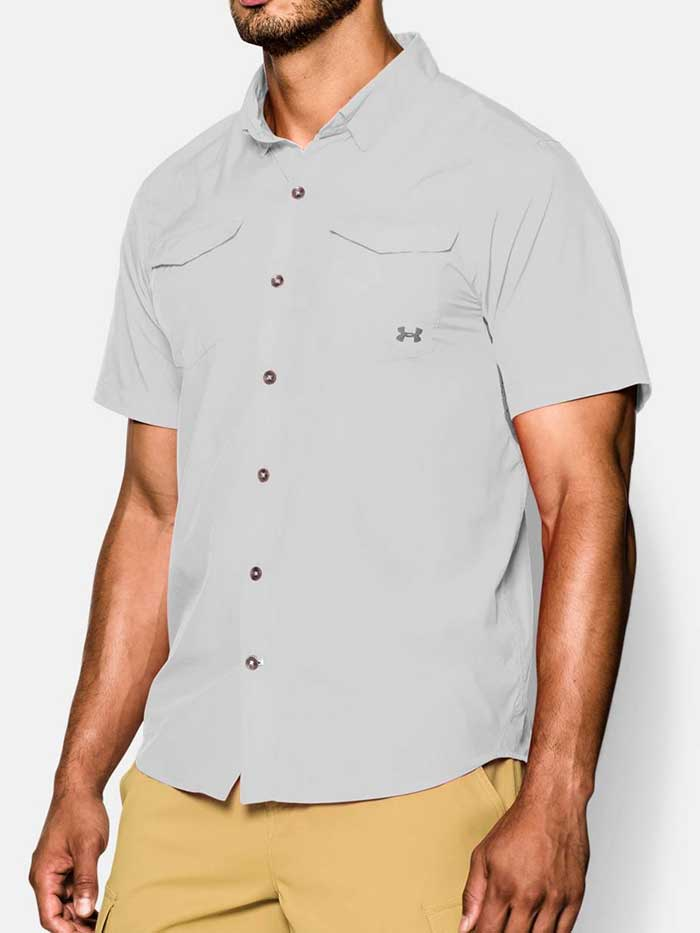 Under Armour Mens UA Iso-Chill Flats Guide Shirt 1255838-094