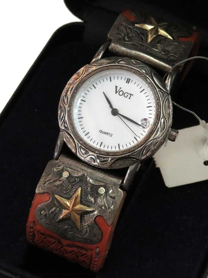VOGT Wrist Watch with Hand Made Western Watch Band 015-110