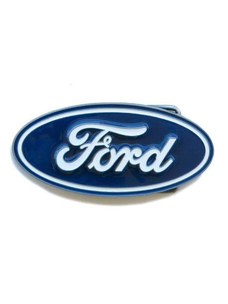 Ford Oval Pewter Alloy Belt Buckle WE-F90