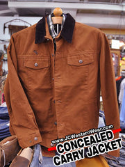 Men's Wyoming Traders Concealed Carry Canvas Chisum Jacket CCJACKET Wyoming Traders - J.C. Western® Wear