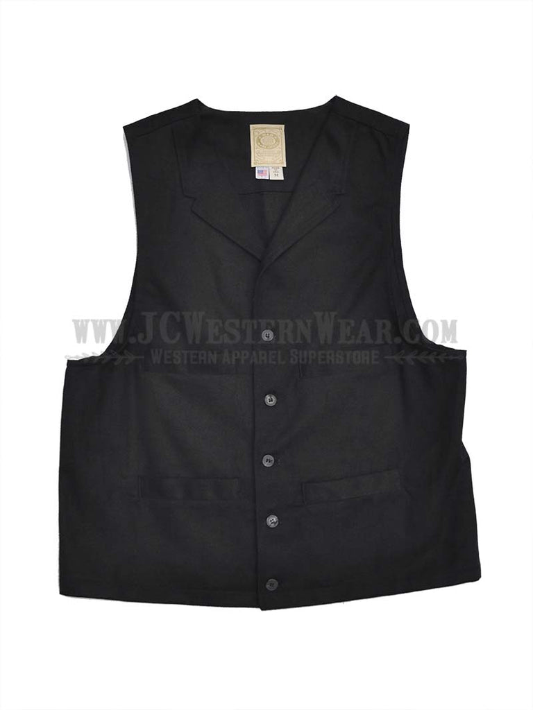 Men's Wah Maker Brushed Denim Vigilante Black Vest 524044 J.C. Western® Wear - J.C. Western® Wear