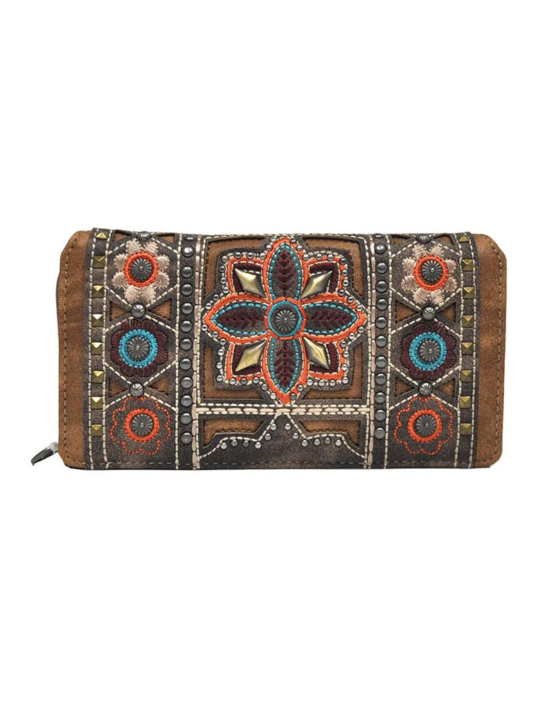 Montana West Embroidered Collection Secretary Style Wallet MW400-W010 Montana West - J.C. Western® Wear