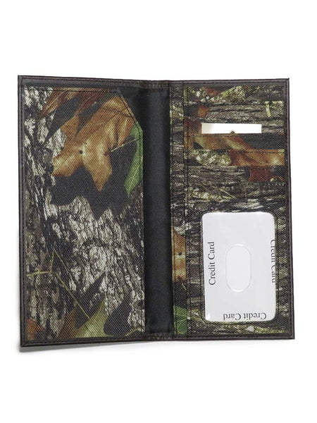 Weber's Mossy Oak Break-Up Nylon Pocket Secretary Wallet 200731