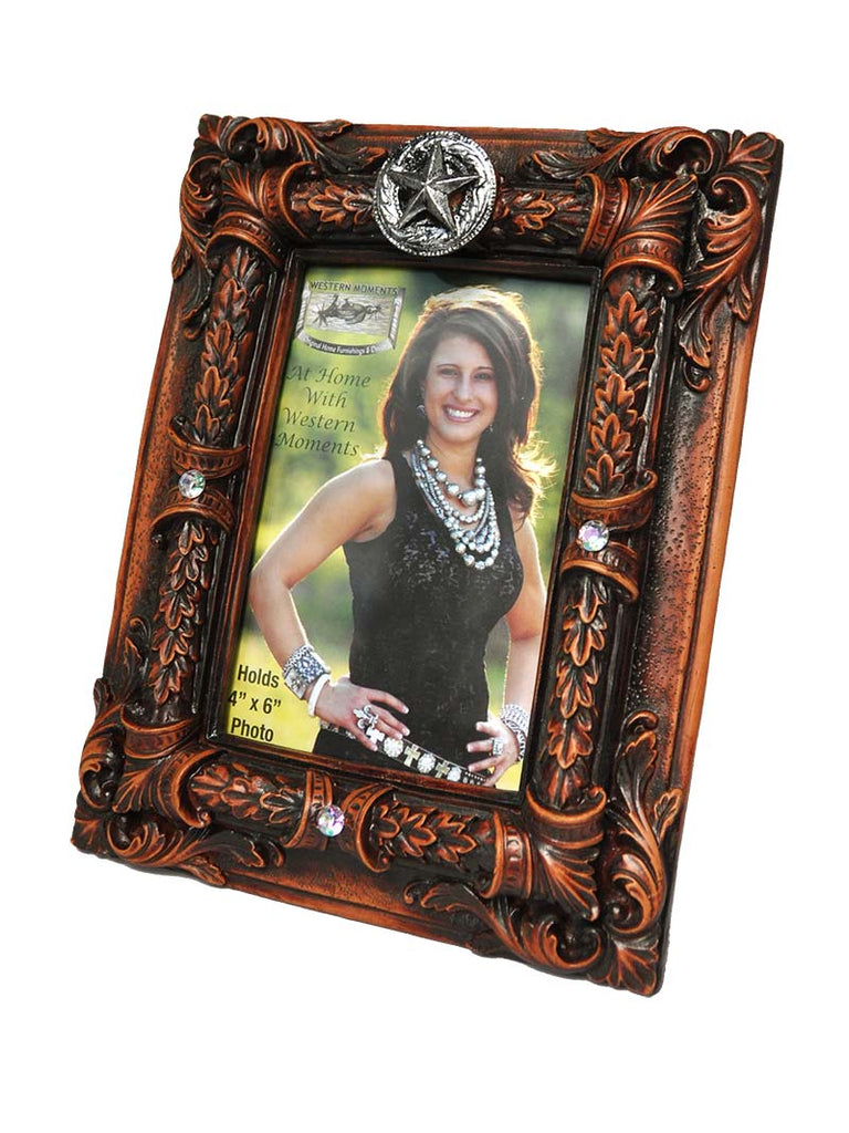 Western Moments Star Concho 4x6 Premium Photo Frame