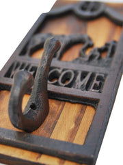 Cowboy Western Wooden Coat Hook COATHOOK1