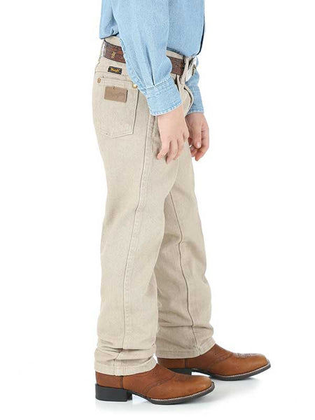 Boy's Wrangler 13MWJTN 13MWBTN ProRodeo Cowboy Cut Tan Original Fit Jean